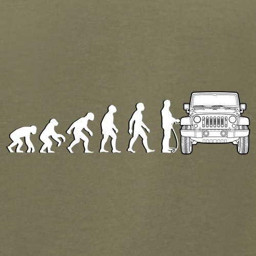 Evolution of Man - Jeep Fahrer - Herren T-Shirt - 13 Farben Khaki