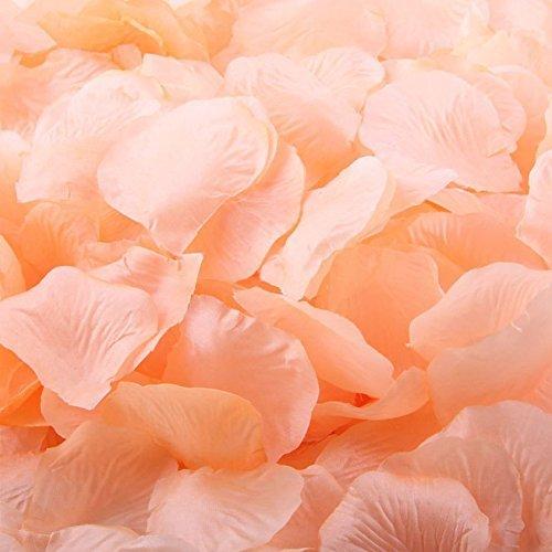 Plastikbeutel Pfirsich Künstliche Seide Rose Blütenblätter Hochzeit Tisch Scaters Konfetti Favor Braut Partei Dekoration