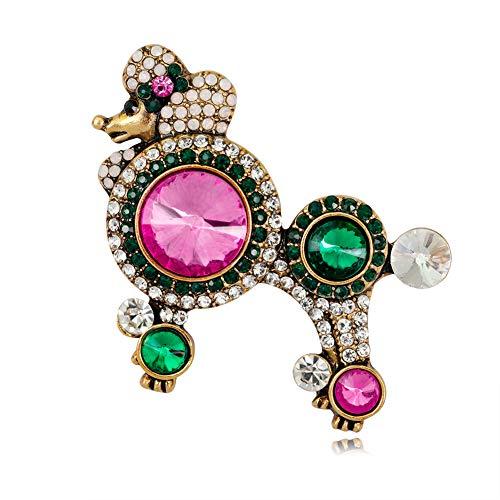 Joyfeel buy Broschen für kleidung Strass brosche Dekoration Kreative Elegante Brosche Legierung Bunt Pudel Pin Geschenk für Frauen Damen