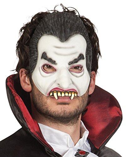 Halloweenia - Halloween Kostüm Latex Halbe Maske Vampir Erwachsenen Maske, (Maske Party Gold Wear Halb)