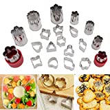Kurtzy Vegetable Fruits Cookie Cutter Shaper Set,Mini Pie Craft Tool for Food Decoration
