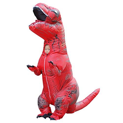 THEE Aufblasbares Kostüm Dinosaurier Kostüm T-Rex Reitkostüm für Halloween Karneval Fastnacht Fasching Kostüm Cosplay Erwachsenenkostüm - Rot T Rex Kostüm