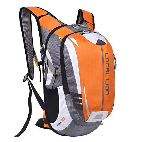 LOCAL LION Fahrradrucksack Trinkrucksack Reiserucksack Sportrucksack Tagesrucksack Alltags Daypacks Backpack Outdoor Ultraleicht Unisex 18L, Gelb