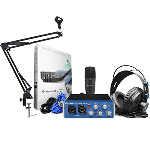 Presonus Audiobox 96 Studio Recording Set + Keepdrum Gelenkarm Stativ