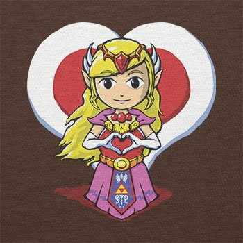 TEXLAB - Princess Love - Herren T-Shirt Braun