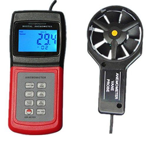 ACMEDE Digital Windmesser Anemometer für Windgeschwindigkeitmessung und Temperaturmessung - AM4836V
