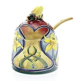 Old Tupton Ware - Daffodil Design - Honey Pot and Spoon