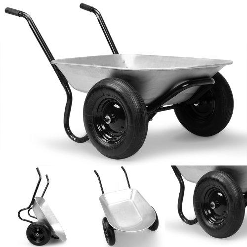 2 Rad Schubkarre 120kg / 70Liter – Bauschubkarre Transportkarre Gartenkarre Baukarre