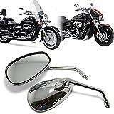10mm Chrom Motorrad Lenker Rückseiten spiegel Für Honda Shadow Kawasaki