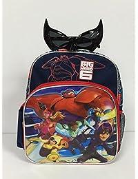 "Disney Baymax Big Hero 6 Large 12"" Backpack And Super Hero Sunglasses Set"