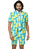 Opposuits Shineapple Anzug für Herren besteht aus Sakko, Hose und Krawatte mit Ananas Print