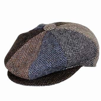 Harris Tweed 8 Piece Wool Cap Large, Made in Scotland