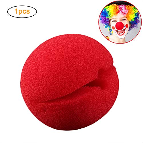 Komisch Kostüm Nur Erwachsene Für - Rot Clown Nase,Rote Nase Schaumstoff Nase Cosplay Nasen Schaum Zirkus Nasen aus Schaumstoff für Halloween Weihnachten Komisch Kostüm Party