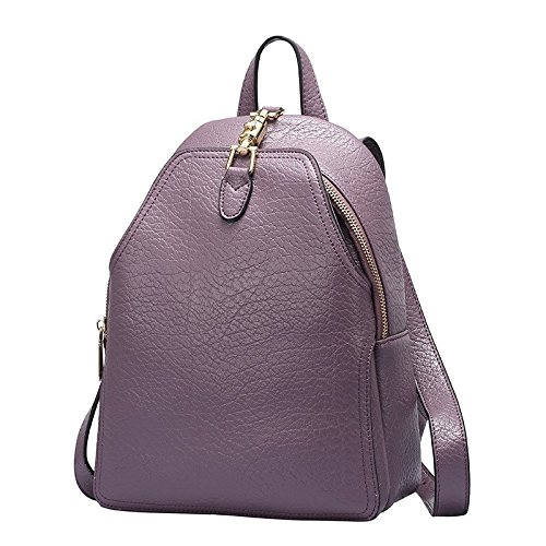 il primo strato di pelle barbona borsa da viaggio libero,gray violet