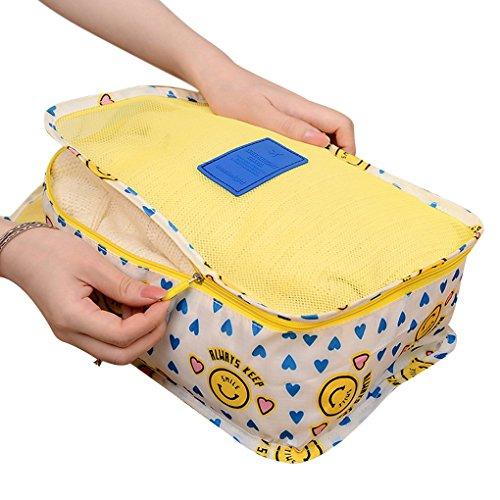 Kleidertasche,kleidung Aufbewahrungstasche Pack Organizer Taschen für Koffer 6er-Set für Kleidung Unterwäsche Socken Mehrfarbig4