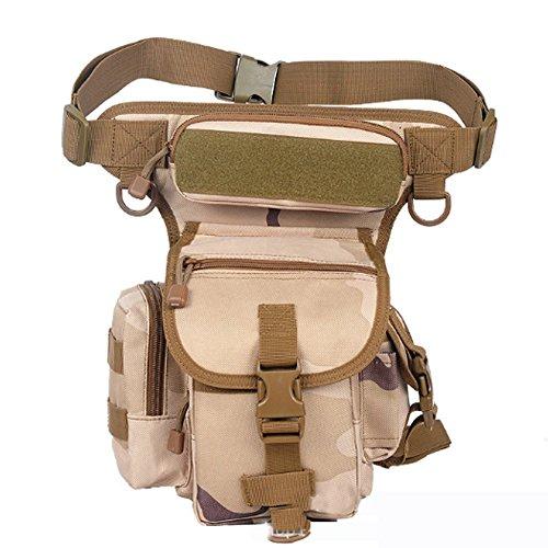 YAAGLE Beintasche wasserdicht Nylon Hüfttasche herren sport Beinbeutel multi Oberschenkeltasche Militär Tropfen Bein Schenkel Bag Tarnung 4
