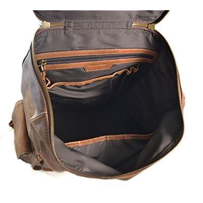 Vintage leather backpack brown genuine washed leather travel bag weekender sports bag gym bag leather shoulder ladies mens backpack - handmade-bags