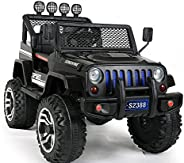 DORSA Buggy 4x4 Electric Ride on Jeep with RC and Music Black, 2388-L-BLACK