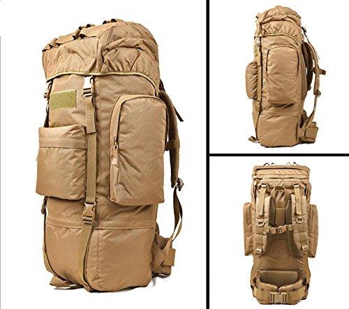 BM Zaino Outdoor escursionismo borsa zaino 100L grande capacità per il tempo libero viaggi sport borse da viaggio per uomini e donne a piedi , cp camouflage wolf brown