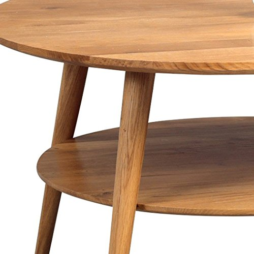 Hometrends4you 247222 Couchtisch Holz Wildeiche Massiv Geölt 80