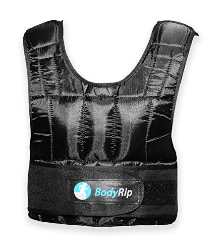 BodyRip Gewichtsweste Deluxe 2.0, gepolstert, 5kg, 10kg, 15kg, 25kg, 30kg, One Adjustable Size