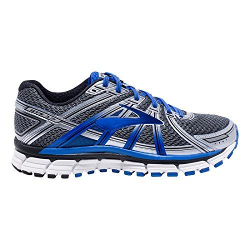 Brooks Adrenaline Gts 17, Chaussures de Gymnastique Homme Anthracite/Electric Brooks Blue/Silver