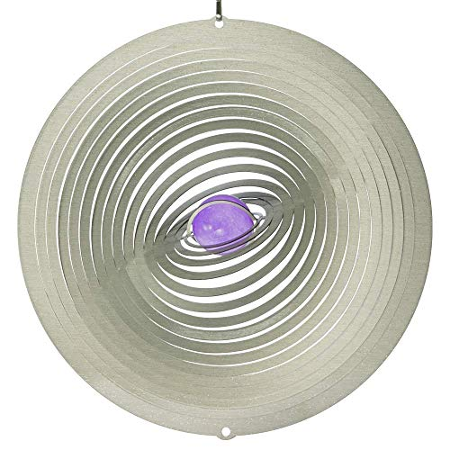 IMC Networks Mobile en Acier Inoxydable - Strudel 200 - réflecteur de lumière - Diamètre : 20cm - INCL. Système d'accrochage et Bille de Verre