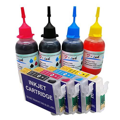 F INK El Cartucho Tinta Recargable 27XL Tinta 4x50ml
