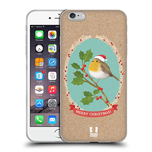 Head Case Designs Rotkelchen Weihnachtsklassiker 2 Soft Gel Hülle für Apple iPhone 6 Plus / 6s Plus