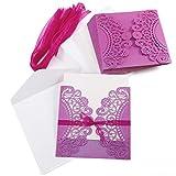Anladia - Tarjetas de invitación para Boda (20 Unidades), diseño de Corona Rosa