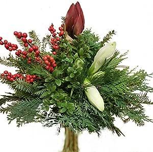 Weihnachtsstrau/ß Winterbeeren Roter Ilex Blumenstrau/ß