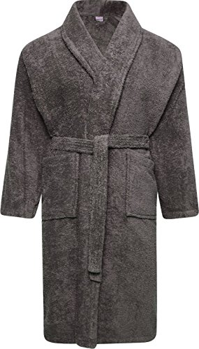 - 515lTP81epL - Adore Home Mens and Ladies 100% Cotton Terry Towelling Adults Shawl Collar Bathrobe Dressing Gown Bath Robe