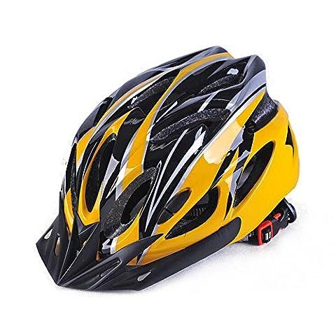 Ezyoutdoor Unisex Yellow Eco-Friendly Super Light Integrally Bike Helmet Adjustable