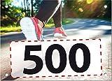 500 Startnummern Walking, Papier classic-race, Format 20 x 14,5 cm (ca. DIN A5), nummeriert von Nummer 1