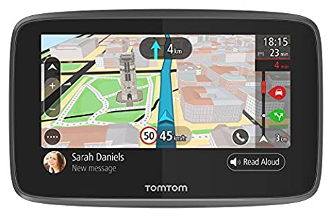 TomTom GO 5200 Navigationsgerät (12,7 cm (5 Zoll), Updates via WiFi, Smartphone Benachrichtigungen, Freisprechen, Lebenslang Karten (Welt), Traffic über Integrierte (Navigationsgerät Kaufen)