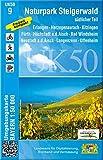 UK50-9 Naturpark Steigerwald, südlicher Teil: Erlangen, Herzogenaurach, Kitzingen, Fürth, Höchstadt a.d.Aisch, Bad Windsheim, Neustadt a.d.Aisch, ... Karte Freizeitkarte Wanderkarte)