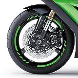 malango® Felgenrandaufkleber Felgenaufkleber Felgenringe für Motorrad Aufkleber Felge Rad Motor Bike 17 Zoll rot rot 17 Zoll