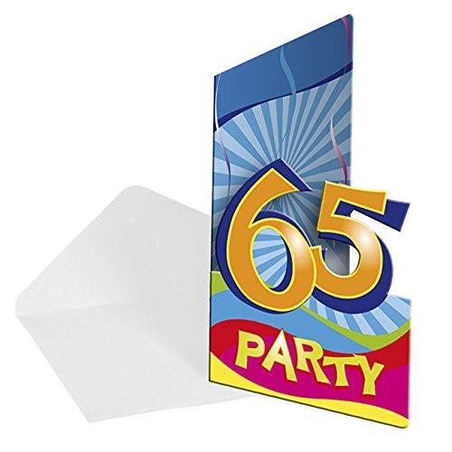 8x Einladung Geburtstag Zahl 65 Geburtstagsparty
