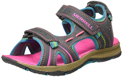 MerrellPanther Sandal - Sandali atletici e per attività da esterni Unisex per bambini Multicolore (Grey/Turquoise)