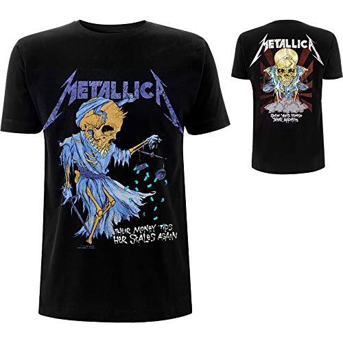 Metallica Doris_Men_bl_TS:2XL Camiseta, Negro Black, XX-Large...