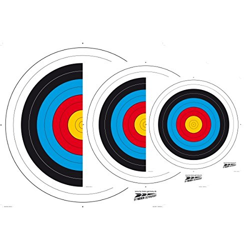 Zielscheiben Set mit 20 Scheiben (40x40cm Hochwertiges Offset-Papier)