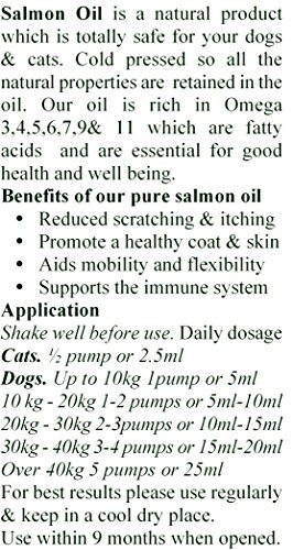 Salmon Oil - 100% Crystal Clear & Pure for Dogs and Cats-500ml 5