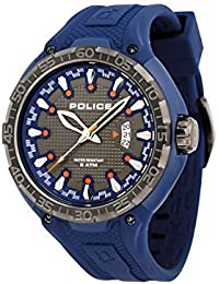 amazon co uk police watches outlet watches police mens luxury sports style analogue date watch blue silicone strap