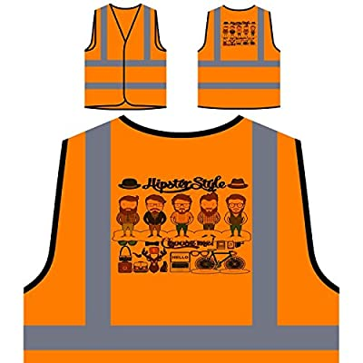 Hipster Style Essentials Neuheit Lustig Personalisierte High Visibility Orange Sicherheitsjacke Weste a695vo