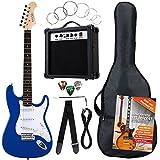 Rocktile Banger's Pack guitarra eléctrica Set, 8-piezas, azul
