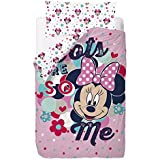 Disney Minnie Love and Spots - Saco nórdico de 2 piezas para cama de 90 cm