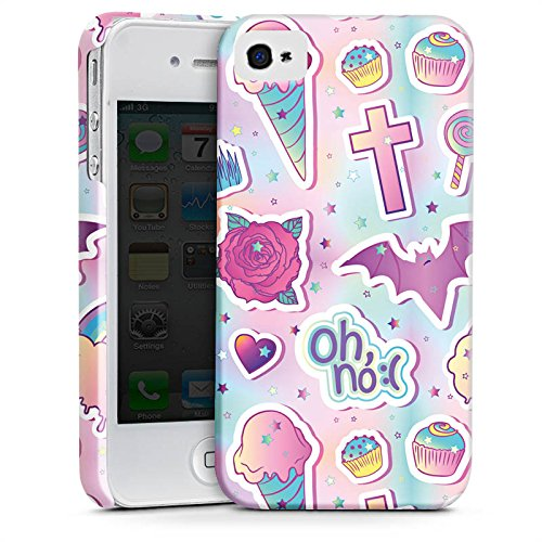 Apple iPhone 7 Plus Silikon Hülle Case Schutzhülle Halloween Muster Girly Premium Case glänzend