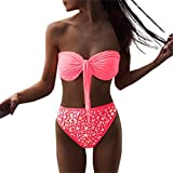 Bikini Damen,Binggong Frauen Heiße bohrende Pailletten Strand Badebekleidung drücken BH Bikini Gesetzten Badeanzug Hoch Tropical Bikini Lingerie Light Pink (XL, Pink)