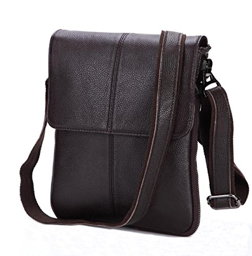 Männer Retro-Multi Dauerhaftes Weiches Business Casual Aktentasche Flach Crossover-Bag Multicolor Brown2