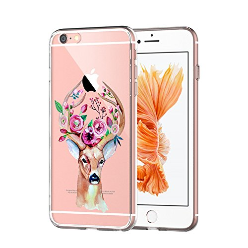 Custodia iPhone 6 Cover, iPhone 6s Clear Soft TPU Protective Case Back Cover with Cute Cartoon Pattern [Slim Fit] [Ultra Thin] for inches iPhone 6s (7) 8